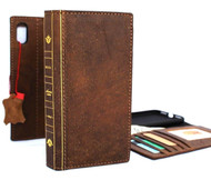 Genuine leather Case for iphone XR wallet soft handmade cover bible book pro