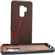 Genuine Tan vintage leather case for samsung galaxy s9 plus luxury cover slim Jafo soft rubber Holder Daviscase