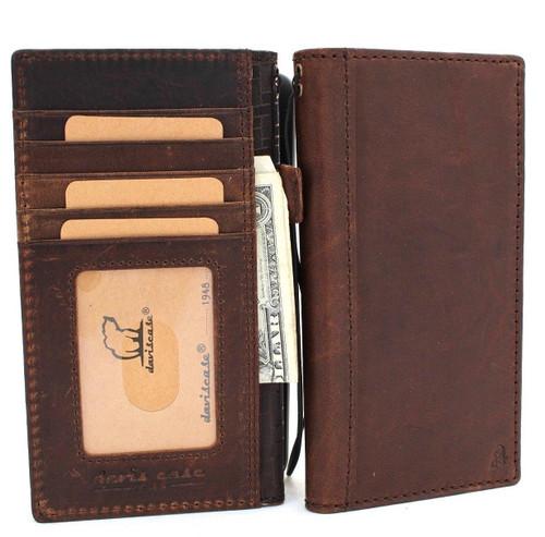 Genuine oiled vintage leather Case for Google Pixel XL 2 book holder wallet luxury cover pro Davis