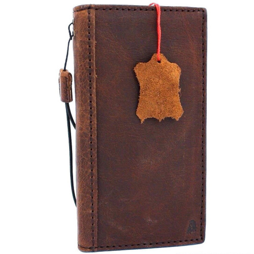 Genuine oiled vintage leather Case for Google Pixel  3 book holder wallet luxury cover pro Davis de