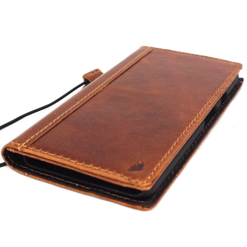 Genuine oiled vintage leather Case for Google Pixel 3 book rubber holder wallet luxury cover Tan Davis pixel3