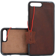 Genuine real leather Case for apple iphone 7 8 cover slim Design lite 1948 IL vintage thin hard brown prime