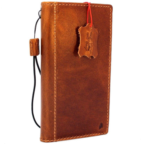 Genuine oiled vintage leather Case for Google Pixel XL 3 book rubber holder wallet luxury Tan cover pro Davis jp