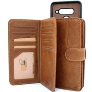 Genuine oiled leather Case for LG V40 book handmade wallet rubber holder cover luxury cards slots magnetic car daviscase 40 v l g