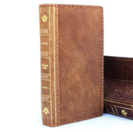 Genuine real leather Case for iphone XR wallet soft holder stand  handmade cover bible book ID