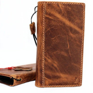 Genuine real leather Case for iPhone xs retro cover credit cards book handmade  luxury Tan Daviscase holder slim wireless stand Jafo