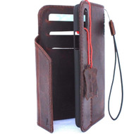 Genuine natural leather Case for iPhone xs vintage cover credit cards magnetic slots luxury lite Daviscase 10 cover holder