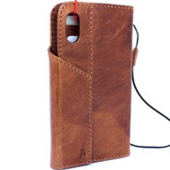 Genuine natural leather Case for iPhone xs vintage cover credit cards magnetic slots luxury  Daviscase 10 cover holder