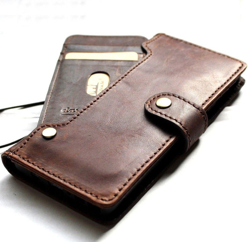 Genuine vintage leather case for Samsung Galaxy Note 9 book wallet closure cover luxury cards slots wireless charge Daviscase 1948