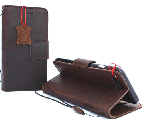 Genuine leather Case for iPhone 8 Plus book wallet cover detachabl magnetic holder vintage Removable style Jafo 1948 au