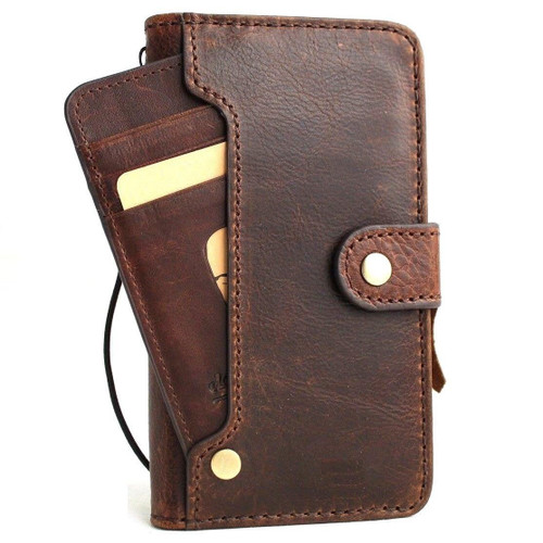 Genuine real leather Case for Samsung Galaxy S10 wireless charging holder vintage book wallet handmade daviscase s 10 luxury lite