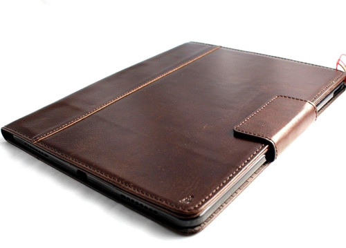 Genuine Vintage Leather Case fit Apple Ipad Pro 12 .9 2018 magnetic Handmade Cover Handbag Stand Luxury Credit Cards slots slim brown A1876 3rd gen