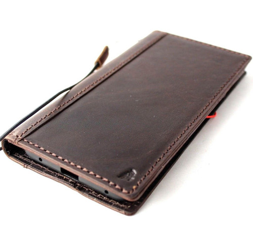 Genuine vintage leather Case For Huawei Mate 20 Pro book wallet cover Cards Slots holder Slim classic daviscase wireless charging prime