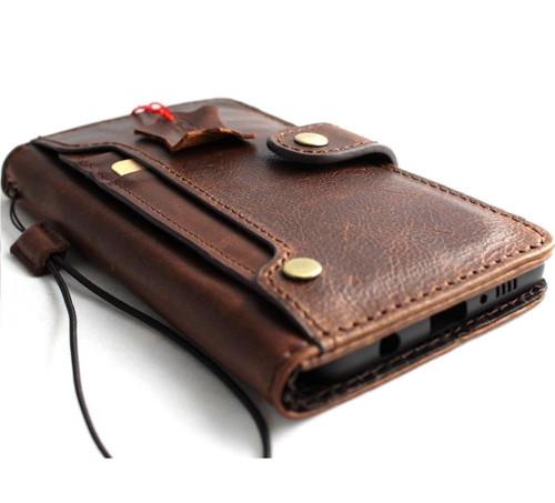Genuine real leather Case for Samsung Galaxy S10 lite wireless charging holder vintage book wallet handmade daviscase s 10 luxury slim