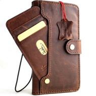 Genuine leather Case for iPhone xs max  vintage cover credit cards wireless charge slots luxury dark Daviscase Jafo uk