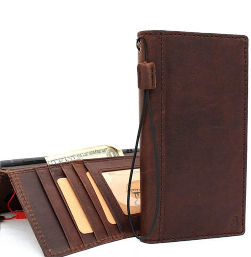 enuine real leather Case for Samsung Galaxy S10 Plus wireless charging holder vintage book wallet handmade daviscase s 10 soft  art