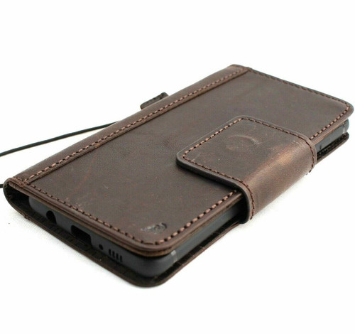 Genuine real leather Case for Samsung Galaxy S10 wireless charging holder vintage book wallet handmade daviscase s 10 luxury magnetic pro