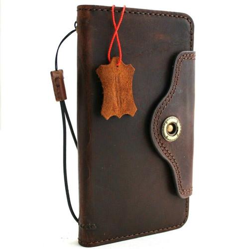 Genuine vintage leather Case for Samsung Galaxy S10 Plus wireless charging holder vintage book wallet handmade daviscase IL