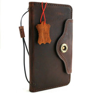 Genuine vintage leather Case for Samsung Galaxy S10 Plus wireless charging holder vintage book wallet handmade daviscase IL