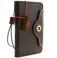 Genuine vintage leather Case for Samsung Galaxy S10 e wireless charging holder vintage book wallet handmade daviscase Art