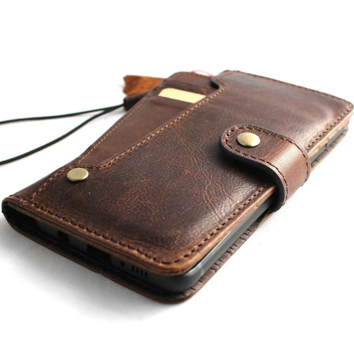 Genuine vintage leather case for samsung galaxy s9 plus book wallet luxury rubber cover slim Holder Daviscase support wireless charger IL