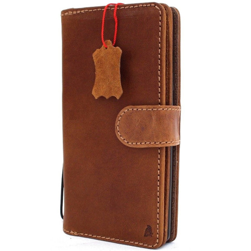 Genuine real leather Case for Samsung Galaxy S10 Plus Removable rubber holder vintage book wallet handmade daviscase pro