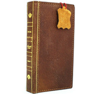Genuine  leather case for Samsung Galaxy Note 10 book wallet handmade cover slim vintage luxury art cards slots stand