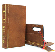 Genuine full leather case for Samsung Galaxy Note 10 book wallet handmade cover slim soft retro luxury strap cards slots rubber