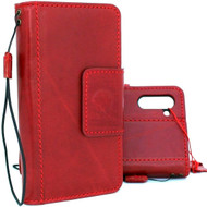 Genuine full leather Case for samsung Galaxy note 10 handmade cover wallet book stand holder red luxury  Window