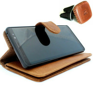 Genuine real Leather Case for Samsung Galaxy Note 10 Plus flip rubber strap Handmade Wallet luxury stand Window Removable