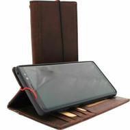 Genuine real leather Case for Samsung Galaxy S10 5G Plus wireless charging vintage book wallet handmade daviscase slim rubber holder 10 soft