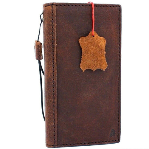 Genuine real leather Case for Samsung Galaxy S10 5G Plus wireless charging vintage book wallet handmade daviscase slim rubber holder 10 soft de