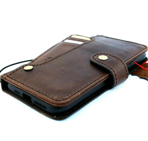 Genuine real luxury leather Case for iPhone 11 Pro Max vintage cover credit cards slots luxury holder rubber Daviscase flip ID Handmade
