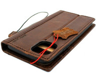 Genuine Real Luxury Oiled Leather Case for IPhone 11 Vintage Cover Credit Cards Slots Holder Rubber Daviscase flip ID Handmade Il