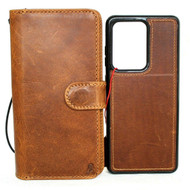 Genuine Real leather Case for Samsung Galaxy S20 Ultra wallet book retro rubber stand DAVIS