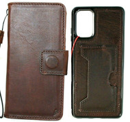 Genuine Vintage Leather Case for Galaxy S20 PLUS Soft Wallet Handmade Wireless DAVIS