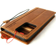 Genuine Vintage Leather Case for Samsung Galaxy S20 ULTRA 5G Wallet Book Luxury Soft cover Davis Tan luxury
