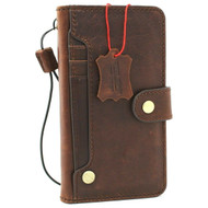 Genuine Natural Leather Case for Samsung Galaxy S20 Wallet Book Soft Luxury card Closure DAVIS