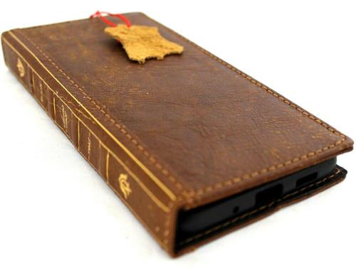 Genuine Leather Case for Samsung Galaxy S20 PLUS Soft Wallet Book Bible Luxury Davis Vintage Tan dE