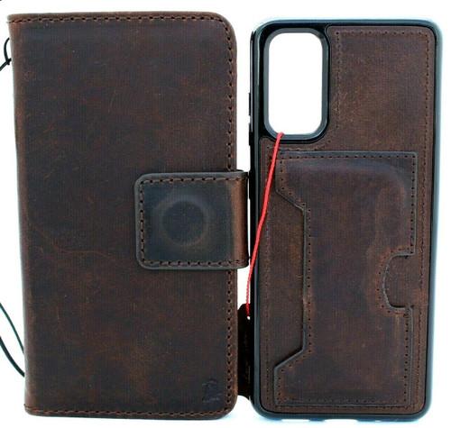 Genuine Vintage Leather Case for Galaxy S20 Soft Wallet Handmade Wireless Davis IL 5g