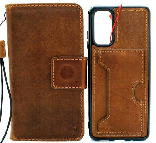 Genuine Vintage Leather Case for Galaxy S20 Soft Wallet Handmade Wireless Davis IL