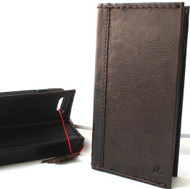 Genuine Natural Leather Case for iPhone SE 2 (2020) Cards Holder Book Wallet Soft Handmade Brown Jafo