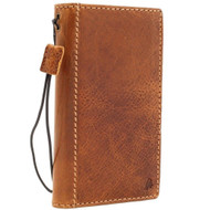 Genuine Real Tanned Leather Case for iPhone SE 2 (2020) Book Wallet Cover Handmade ID Window Jafo