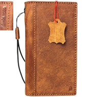 Genuine Tanned Leather Case for Apple iPhone SE 2 (2020) Book Wallet Cover Slim Soft ID Window Davis