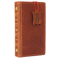 Genuine Full Leather Case for Apple iPhone SE 2 (2020) Bible Book Design Wallet Cover Slim Tanned Davis