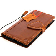 Genuine Full Tanned Leather Case for iPhone SE 2 (2020) Classic Book Wallet Cover Magnetic Soft JAFO