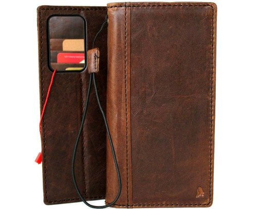 Genuine Natural Leather Case for Samsung Galaxy Note20 Ultra Wallet Book Luxury Soft Note 20 cover Davis 5G