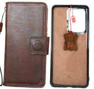 Genuine Full Leather Case for Samsung Galaxy Note20 Ultra Magnetic Cover Book Removable DAVIS Note 20 Ultra 5G