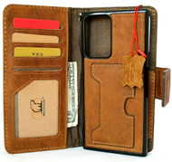 Genuine Tanned Leather Case for Galaxy Note20 Ultra Soft Wallet Removable Cover ID Wireless Charging Note 20 Jafo 5G