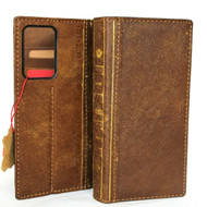 Genuine Soft Leather Case for Samsung Galaxy Note20 Ultra Wallet Book bible style Tanned cover Davis Note 20 5G (GALNote20UltraBOOK-B